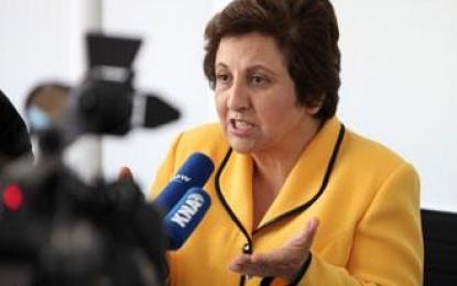 """سازمان گزارشگران بدون مرز: کمیسیونی به ریاست شیرین عبادی """"اعلامیۀ جهانی اطلاعات و دموکراسی"""" را تدوین میکند"""