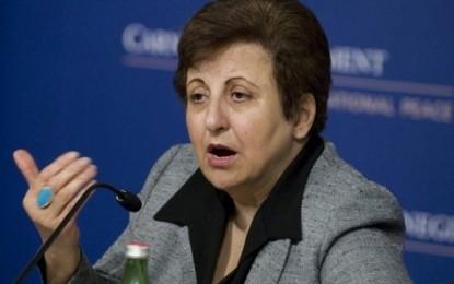 شیرین عبادی: قوه قضاییه قهرمانان جامعه مدنی را به گروگان گرفته است