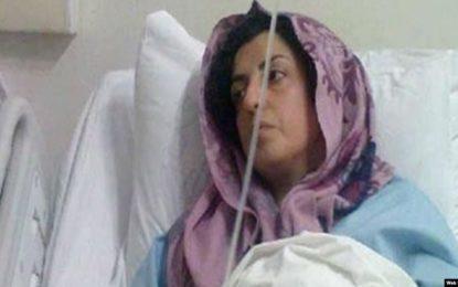 عفونت ناشی از زخمهای جراحی به خون نرگس محمدی سرایت کرده است