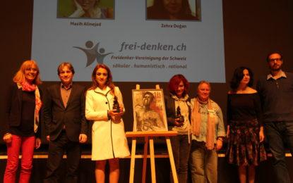 مسیح علی نژاد و کمپین آزادی های یواشکی برنده جایزه «آزاد اندیش» ۲۰۱۷ انجمن آزاد اندیشان سوئیس شد