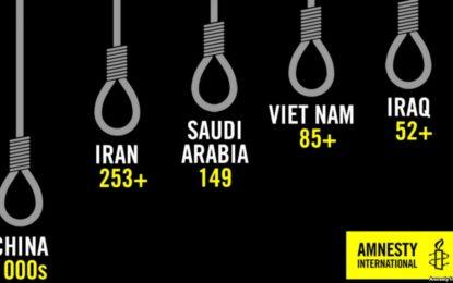 عفو بینالملل: اعدامها در ایران نصف شده ولی یک سوم آمار ثبتشده در جهان است