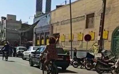 بازداشت زن بیحجاب دوچرخهسوار در نجفآباد
